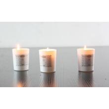Natural soy wax aroma candle with glass jar holder