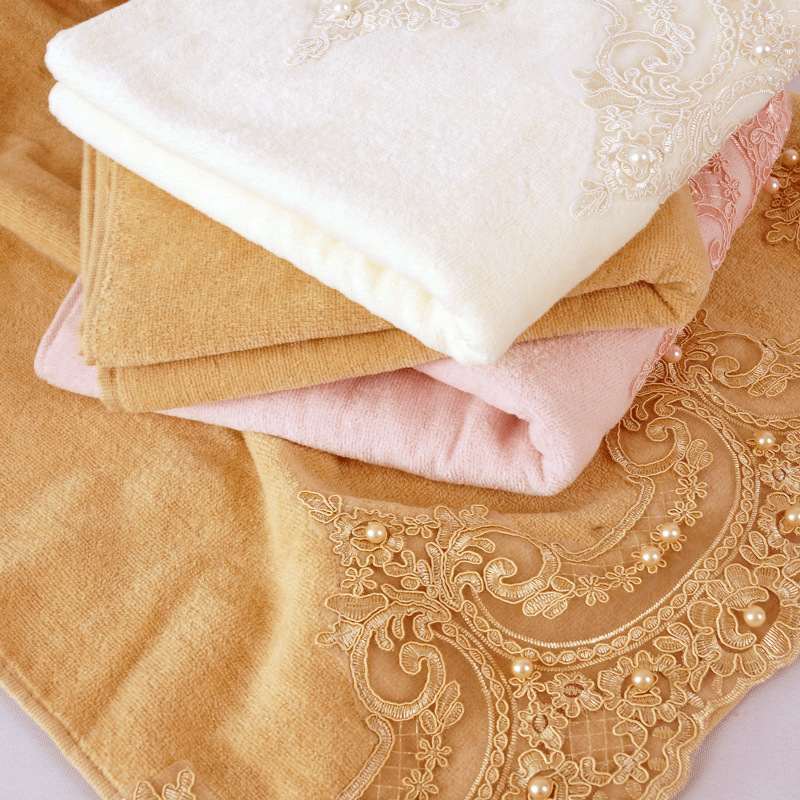 beautiful lace velvet towel