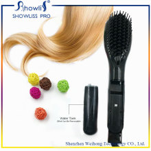 Ceramic Electric Degital Control Antiscaled Hair Straightener Brush Peigne