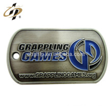 Free design custom enamel 2d walmart metal dog tag by machine
