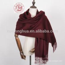 Простой цвет чистого кашемира шарф шаль