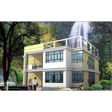 Maison préfabriquée de mur de ciment de structure en acier (KXD-pH1495)