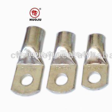 Brillante cobre estañado Terminal de cable (tubular, tipo engarzado) sin orificio de inspección