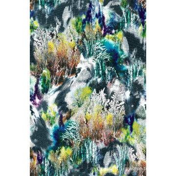 Tissu de maillots de bain en nylon imprimé dame (ASQ076)