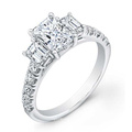 925 Sterling Silver Engagement Rings with Cubic Zircon