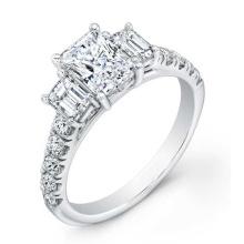 925 anillos de compromiso de plata de ley con zircon cúbico