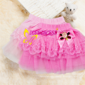 china wholesales Puffyred big bow lace mini skirt for children girl