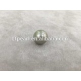 14-15mm round gray tahitian pearls wholesale loose beads