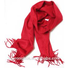 bufanda roja brillante de la cachemira de la bufanda de la cachemira y de la lana de agua mezclada