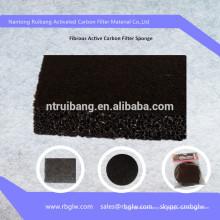 suministro de espuma de filtro de aire Filtro de espuma de carbón activo