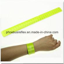 Reflektierendes Band/Snap Armband / Slap Wrap/Breaclet