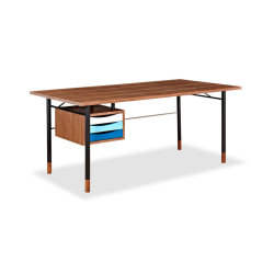 Color theory mid century modern writing desk