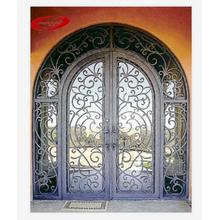 Thermal Break Decorative Exterior Wrought Iron Door