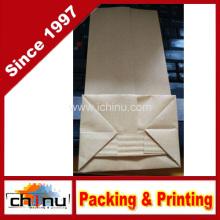 Bolsa de papel Kraft con ventana y cierre de cremallera (220096)