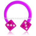 UV Acrylic Flexible Circular Barbell with Dices