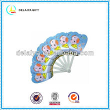 plastic folding hand fan for promotion