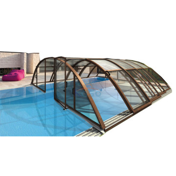 Couverture de piscine rétractable en polycarbonate PVC