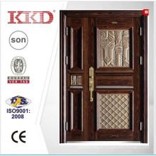2015 neue Design Stahl eine und eine halbe Türblatt Tür KKD-911B mit hochwertigem Aluminium fertigen