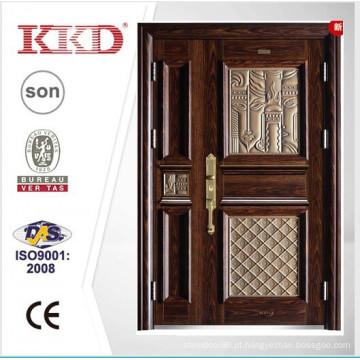 Novo Design de 2015 aço uma e meia folha de porta porta KKD-911B com acabados de alumínio de alta qualidade