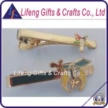 Instock Custom Masónico Oes Gold Tie Clip para Souvenir