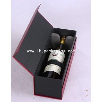 Envase de vino Caja de papel de regalo con cierre de imanes de espuma EVA