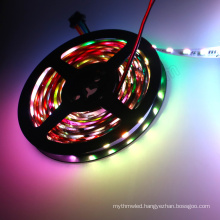 Individully control DC24v 60 leds dmx rgb strip led tape light