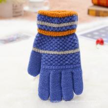 Guantes de acrílico del invierno de las manoplas del guante lleno del dedo para requisitos particulares para los niños