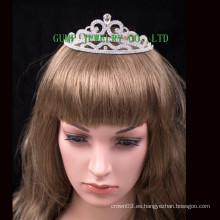 Corona maravillosa del rhinestone de la tiara de la boda