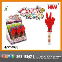 Juguetes de plástico divertido de mano con Soft Candy armas juguete de artículos promocionales 2015 (12pcs / Display box)