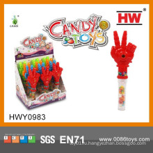 Забавные пластиковые ручные игрушки с мягкой пушкой Candy Toy Promotional Items 2015 (12pcs / Display box)