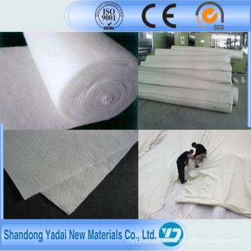 Geotêxtil não tecido branco / geotêxtil não tecido perfurado agulha