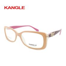 2018 Lady Hochwertiger Acetat-Rahmen, Acetat optische Gläser, Brillen