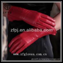 Venta al por mayor de China piel napa cuero guantes clásicos