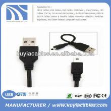 2.0 USB al cable mini5Pin para la cámara MP3 MP4