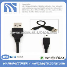 2.0 USB para mini5Pin cabo para MP3 MP4 câmera