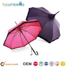 señoras promocionales de la muchacha de las señoras del parasol para el paraguas de lujo del sol