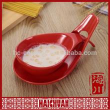 Hornear utensilio cerámica coloreado en relieve cuadrado pan snack plato caramelo pan coloreado