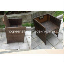 Rattan / cadeira de vime ao ar livre para a tabela do cubo