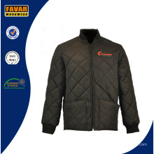 Workwear Polyester Pongee Waterproof Dimond Quilted Waterproof Work Jacket Workwear Winter Jackets