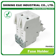 FS-032L3 Rail Mounted Cartridge Type AC DC 600V 32A Fuse Holder