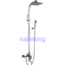 Luxury Bathroom Shower Faucet Unit Chrome Rain Shower Head Arm Set