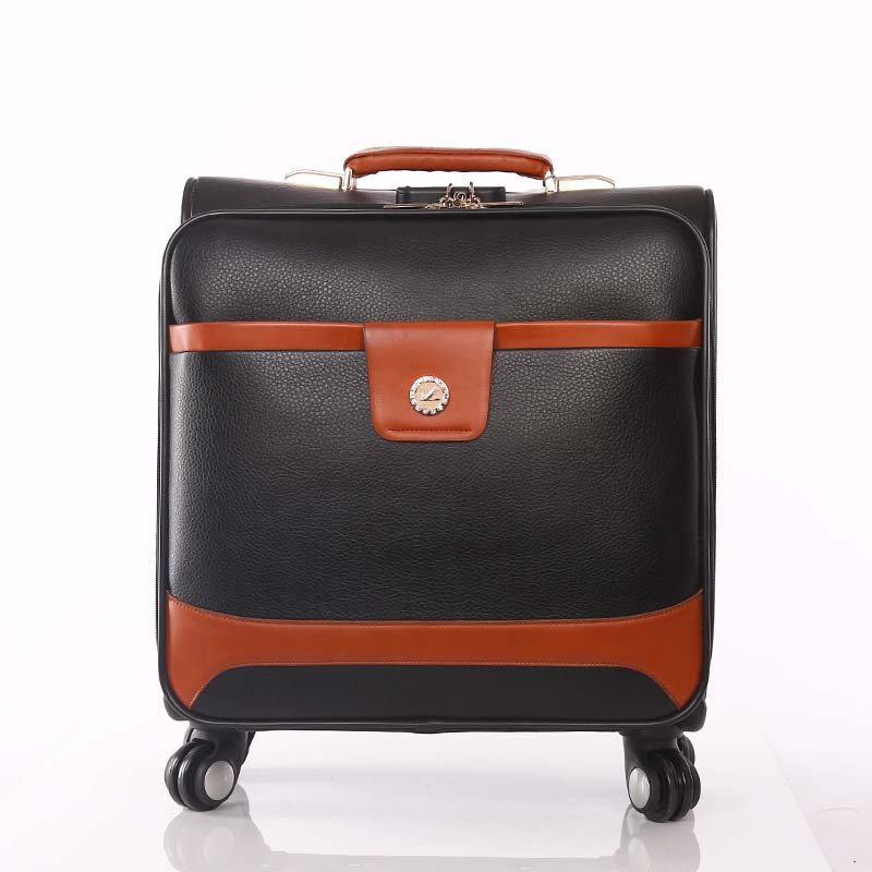 2018 Customized PU Trolley Luggage Bag