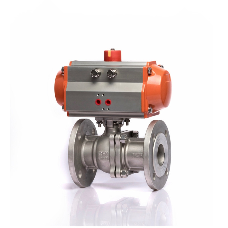 Flange Pneumatic Actuated Stainless Steel Ball Valve