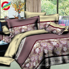 high quality microfiber modern printed bed sheet sets