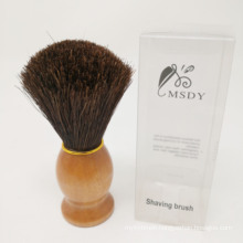 Wooden Handle shaving brush Horse hair beard brush man facial brush