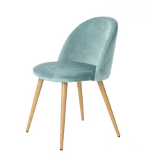 European style cheap banquet wedding dining chairs green velvet fabric costed goden legs