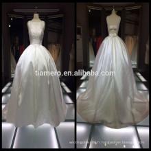 Pétales doux de style princesse blanc petites robes de mariage traînantes