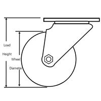 Medium duty swivel plate size