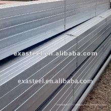 Q195 Q235 Q345 tube carré en acier galvanisé