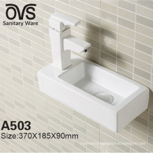Ovs Wall Mounted Small Size Square Wash Basin